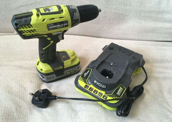 Cordless Drill 18v, 5.0ah Battery and Fast Charger Ryobi - 1