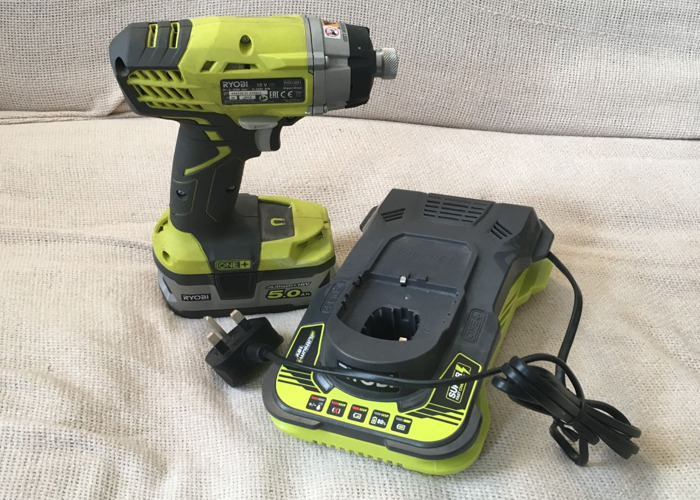 Cordless Impact Driver 18v, 5.0ah Battery and Fast Charger - 1