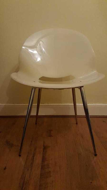 White Prespex Chair - 1