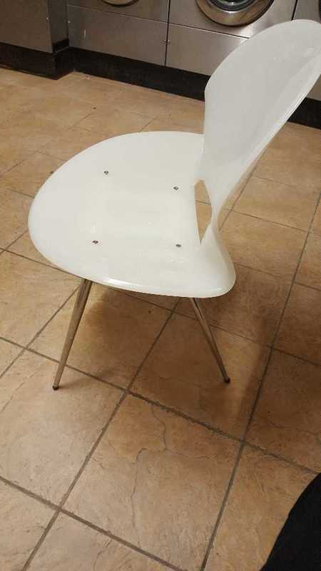 White Prespex Chair - 2