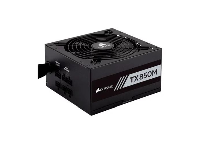 Corsair 850W Enthusiast TX-M Series TX850M PSU, Rifle Bearing Fan, Semi-Modular, 80+ Gold - 1