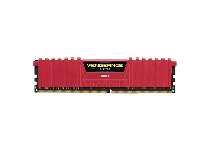 Corsair CMK8GX4M1A2400C14R Vengeance LPX 8 GB (1 x 8 GB) DDR4 2400 MHz C14 XMP 2.0 High Performance Desktop Memory Module, Red - 2