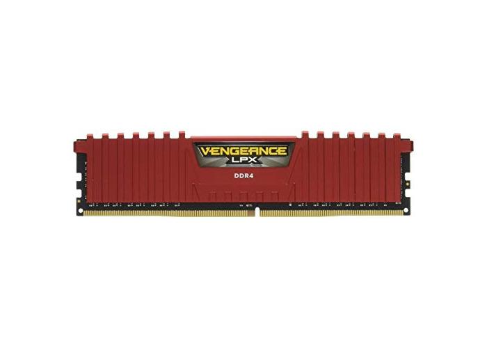Corsair CMK8GX4M1A2400C14R Vengeance LPX 8 GB (1 x 8 GB) DDR4 2400 MHz C14 XMP 2.0 High Performance Desktop Memory Module, Red - 1