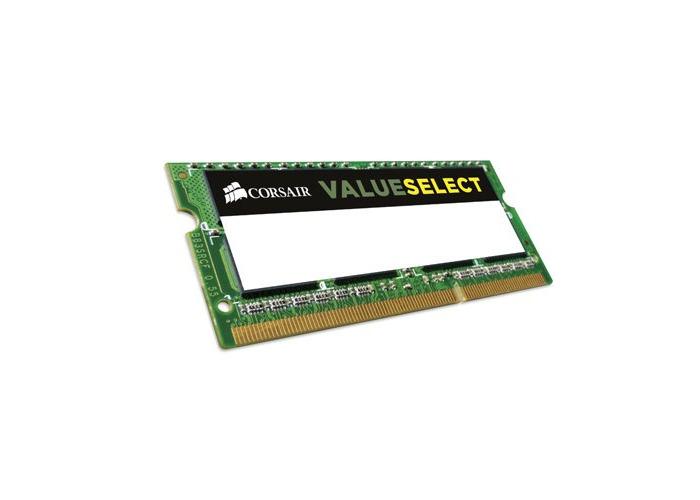 Corsair CMSO8GX3M1C1600C11 Value Select 8GB (1x8GB) DDR3 1600Mhz CL11 Mainstream SODIMM Notebook Memory Module Green - 1