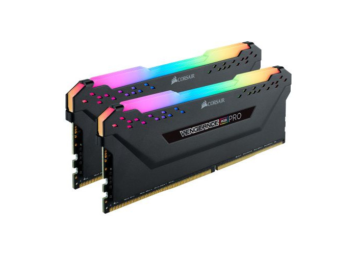 Corsair Vengeance RGB Pro 16GB Memory Kit (2 x 8GB), DDR4, 3200MHz (PC4-25600), CL16, XMP 2.0, Black - 1