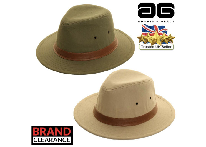 Mens Fedora Hat 100/% Cotton w//PU Band Summer Trilby By A/&G