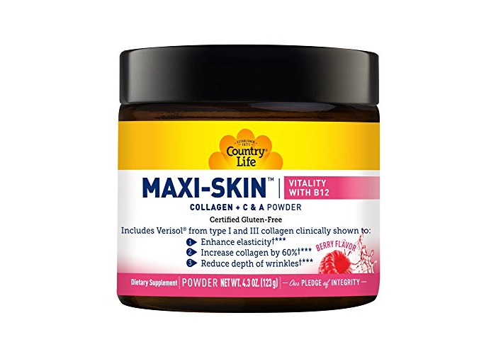 Country Life - Maxi-Skin Vitality with B12 Berry - 4.3 oz. - 1