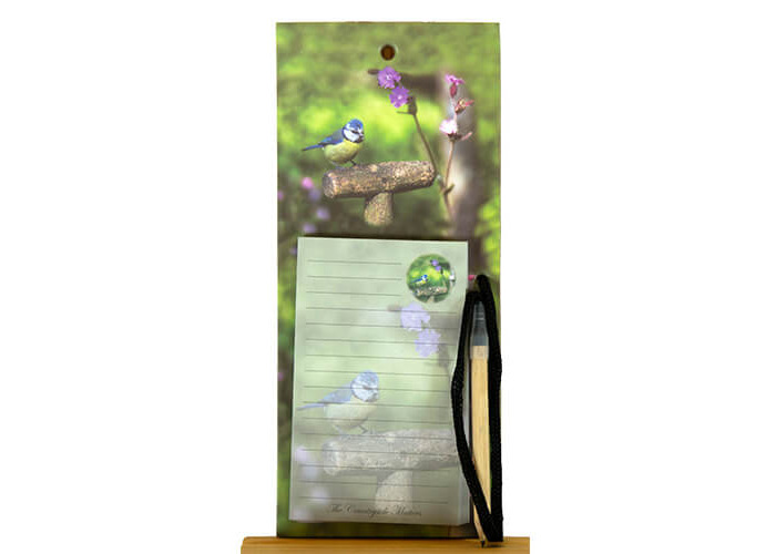 Country Matters Blue Tit Bird Fridge Magnetic Note Memo Pad - 1