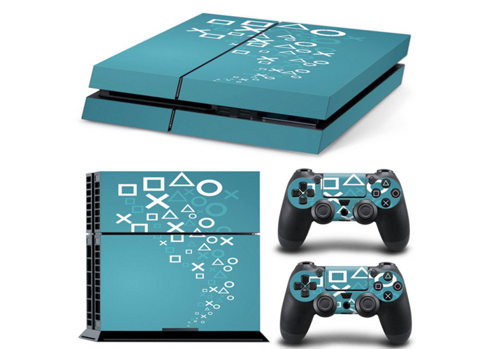 Cover Skin Stickers Decal Decor For Playstation 4 PS4 Console + 2 Controllers - 1