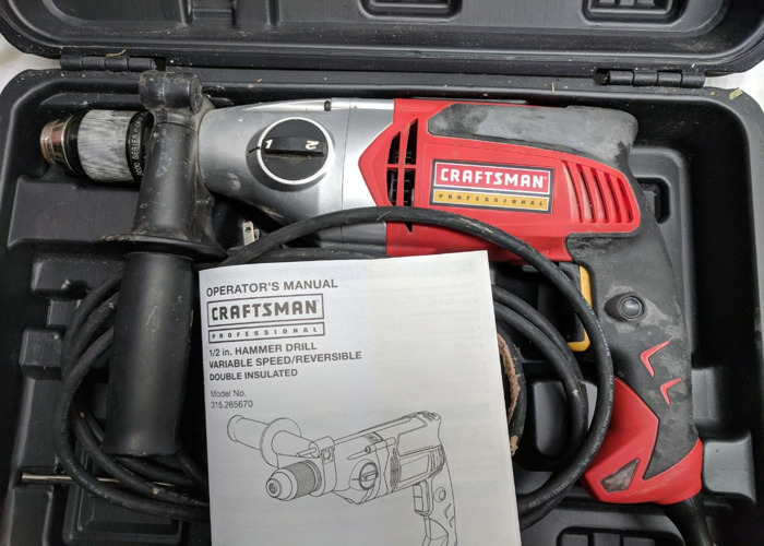 CRAFTSMAN Professional 7.5 amp 1/2-in Corded Hammer Drill - 2