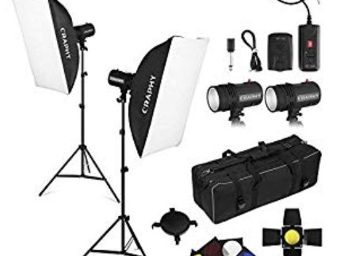 CRAPHY 440W Professional Studio Flash Strobe Photography - 1