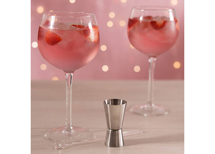 Creative Tops Ava & I Gin Glass Gift Set (Set of 2 Balloon Glasses with Stirrer and Jigger) - 2