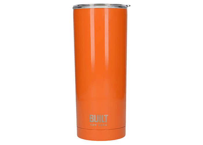Creative Tops BUILT Stainless Steel Vacuum-Insulated Thermal Travel Cup, 565 ml (20 fl oz) - Orange - 1