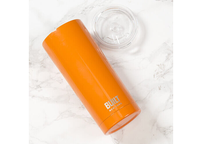 Creative Tops BUILT Stainless Steel Vacuum-Insulated Thermal Travel Cup, 565 ml (20 fl oz) - Orange - 2