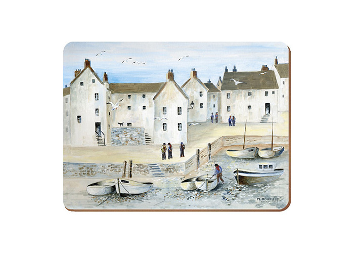 """Creative Tops ''Cornish Harbour Traditional Cork-Backed"""" Placemats, Set of 4 - 1"""