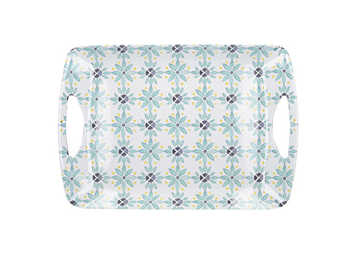 Creative Tops Green Tile Large Luxury Handled Tray - 1