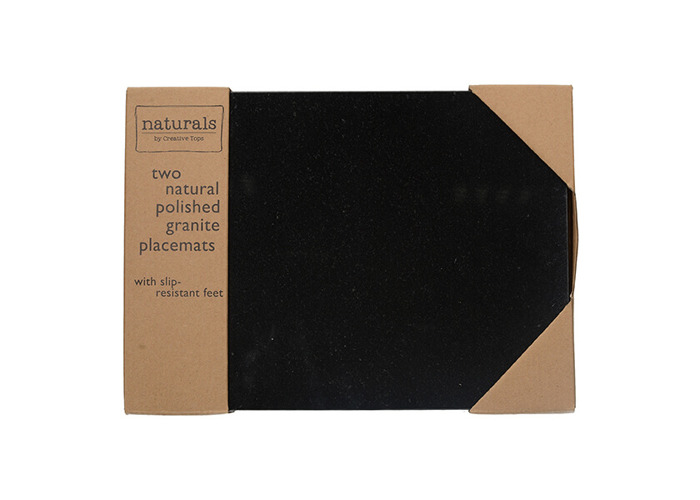 Creative Tops Naturals Pack Of 2 Granite Placemats - 2