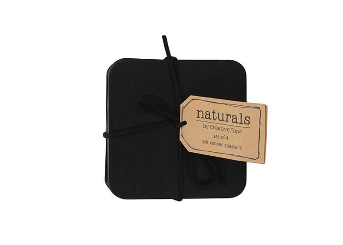 Creative Tops Naturals Pack Of 4 Wooden Coasters Black - 2