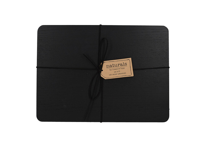 Creative Tops Naturals Pack Of 4 Wooden Placemats Black - 2
