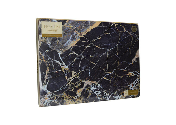 Creative Tops Navy Marble Pack Of 4 Large Premium Placemats - 2