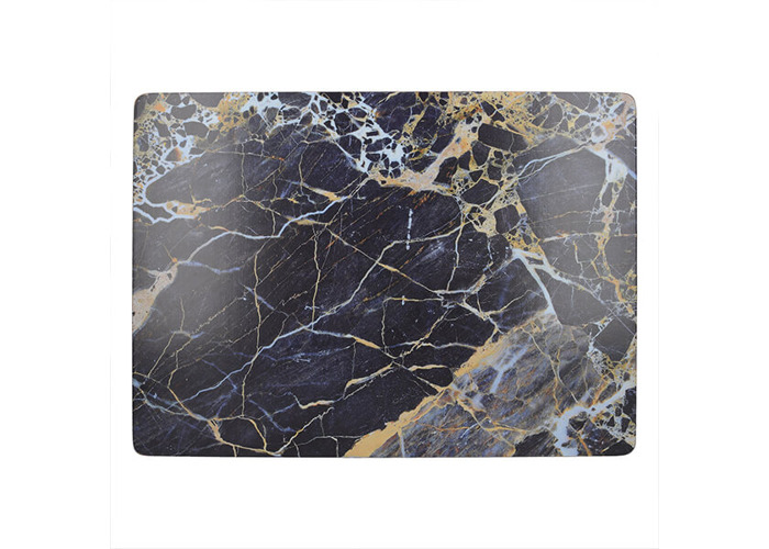 Creative Tops Navy Marble Pack Of 4 Large Premium Placemats - 1