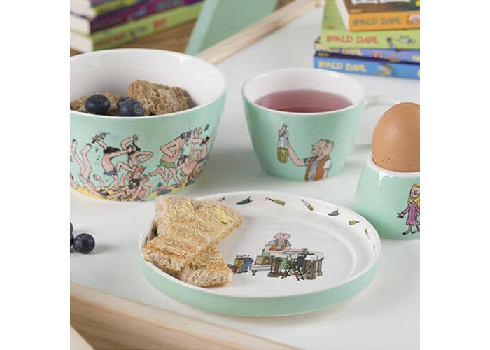 Creative Tops Roald Dahl BFG Children's Stackable Ceramic Breakfast Set - Turquoise (4 Pieces) - 2