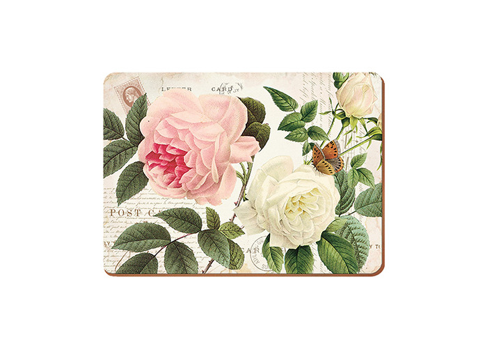 Creative Tops Rose Garden Set Of 6 Premium Table Mats - 1