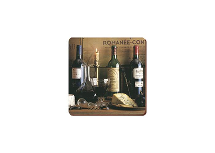"Creative Tops ""Vintage Wine"" Cork Backed Coasters, Multi-Colour, 6-Piece - 1"