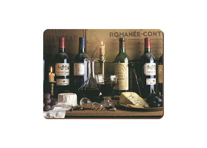 Creative Tops Vintage Wine Traditional Cork-Backed Placemats, Set of 6 - 1