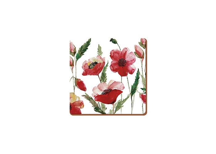 Creative Tops Watercolour Poppy Set Of 6 Premium Coasters - 1