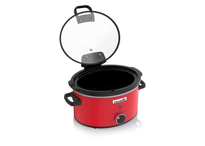 Crock Pot CSC037 Slow Cooker with Hinged Lid, 3.5L - Red - 1