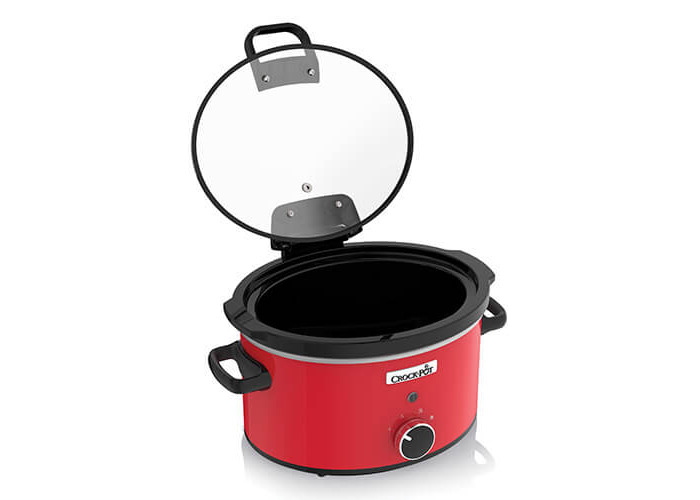 Crock-Pot CSC037 Slow Cooker with Hinged Lid, 3.5 Litre, Red - 2
