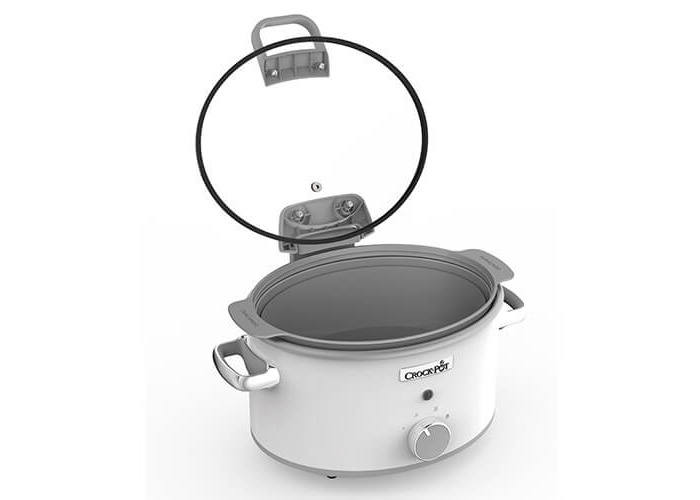 Crock-Pot CSC038 Duraceramic Saute Slow Cooker with Hinged Lid, 4.5 Litre, White - 2