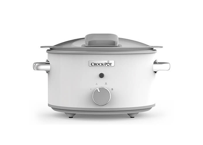 Crock-Pot CSC038 Duraceramic Saute Slow Cooker with Hinged Lid, 4.5 Litre, White - 1