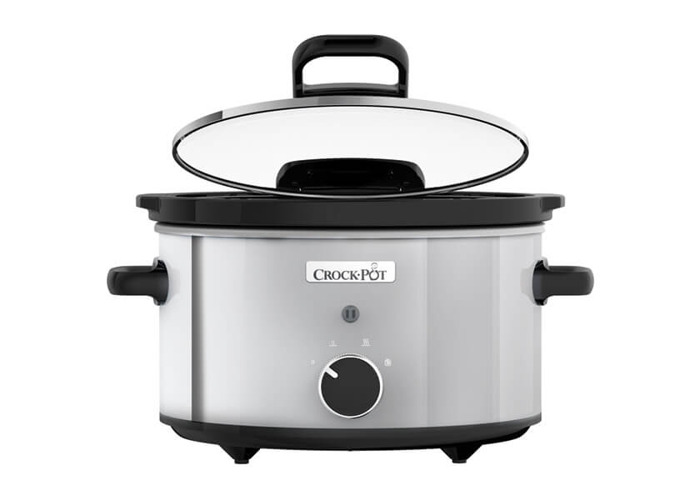 Crock-Pot CSC044 3.5L Stainless Steel Slow Cooker with Hinged Lid - 2