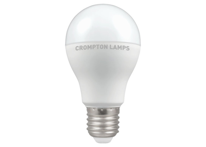 Crompton LED Classic GLS Thermal Plastic Bulb, E27 12W Non-Dimmable, Warm White, Opal Finish - 1