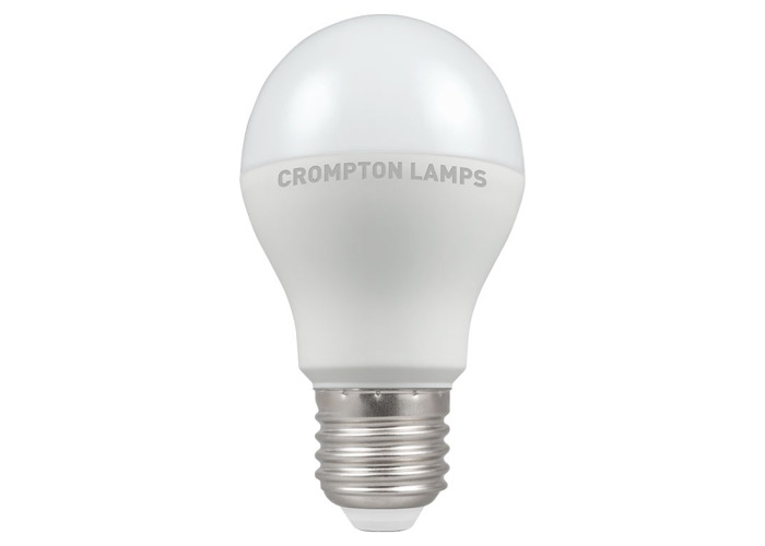 Crompton LED Classic GLS Thermal Plastic Bulb, E27 9.5W Non-Dimmable, Warm White, Opal Finish - 1