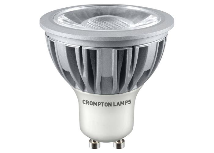 Crompton LED GU10 COB 5W Non-Dimmable Spotlight, 45° Beam, Warm White - 1