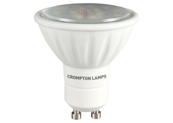 Crompton LED GU10 SMD 3W Non-Dimmable Spotlight, 100° Beam, Daylight - 1