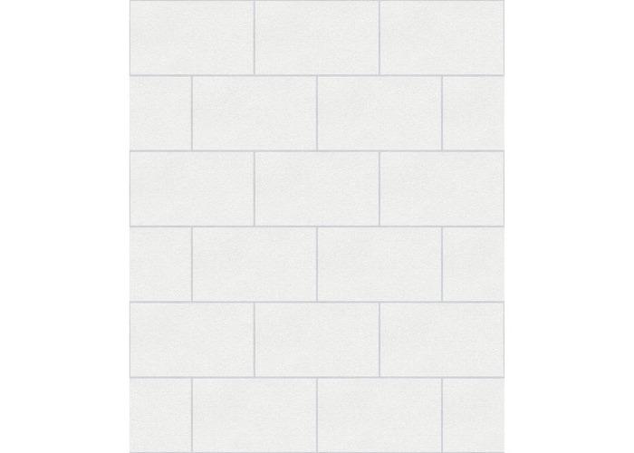 Crown Wallcoverings London Glitter Tile Wallpaper White M1054 - 1