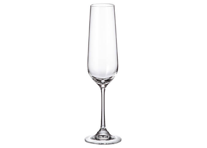 Crystalite Bohemia Strix Set Of 6 Flute Glasses - 1