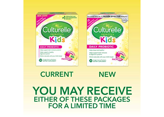 Culturelle Kids Packets Daily Probiotic Formula, One Per Day Dietary Supplement, Contains 100% Naturally Sourced Lactobacillus GG –The Most Clinically Studied Probiotic†, 30 Count - 2