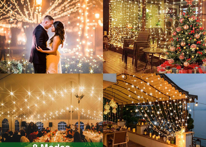 Curtain Fairy Lights for Outdoor Party and Weddings, 300 LED - 2