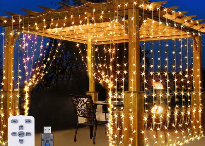 Curtain Fairy Lights for Outdoor Party and Weddings, 300 LED - 1