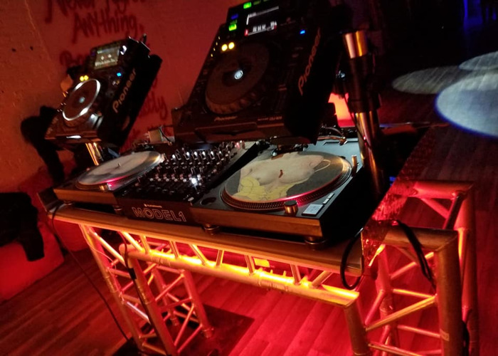 CUSTOM DJ BOOTH - Industrial Metal Trussl Style with LEDS - 2