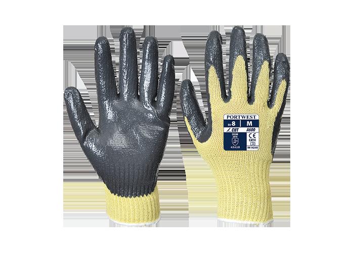 Cut Nitrile Grip Glove  YeGrey  Medium  Y - 1