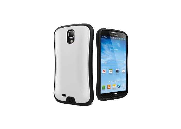 Cygnett Fitgrip Case with Screen Protector for Samsung Galaxy S4 - Robust with Black with White - 1