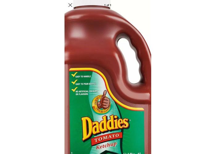 Daddies Tomato Ketchup - 1x4ltr - 1