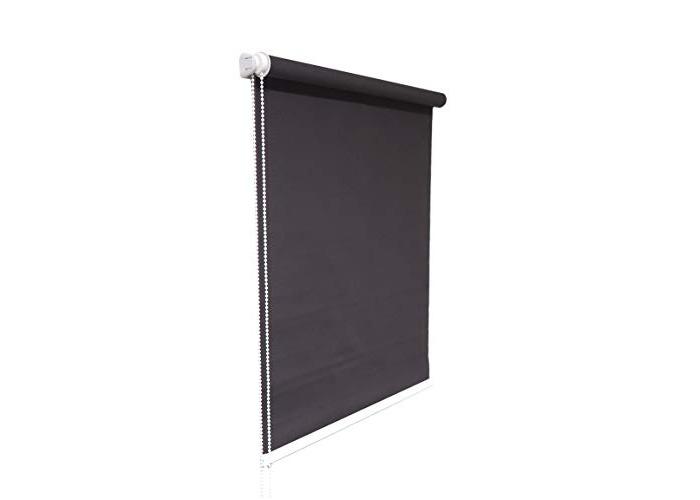 Dark Grey Window Roller Blind Choice of 19 Width Sizes, 200cm Drop, 140cm wide (+4.5cm fittings) - 1