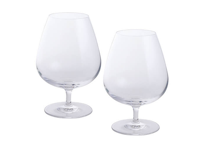 Dartington 2-Piece Crystal Wine and Bar Brandy Glass - 1